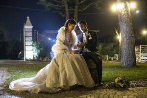 Matrimonio inverno sposa La Cavallina Eventi